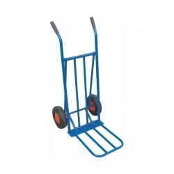 Sekketralle med klaff (massive hjul)